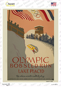 Olympic Bobsled Run Wholesale Novelty Rectangle Sticker Decal