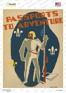 Passports to Adventure Wholesale Novelty Rectangle Sticker Decal