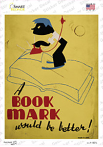 A Book Mark Is Better Wholesale Novelty Rectangle Sticker Decal