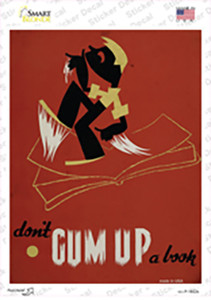 Dont Gum Up a Book Wholesale Novelty Rectangle Sticker Decal