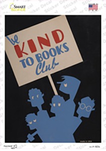 Be Kind To Books Wholesale Novelty Rectangle Sticker Decal