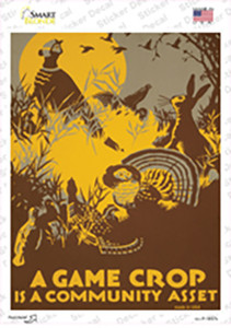 A Game Crop Vintage Poster Wholesale Novelty Rectangle Sticker Decal