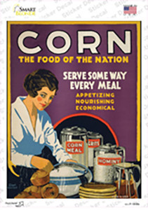 Corn Food of the Nation Vintage Poster Wholesale Novelty Rectangle Sticker Decal