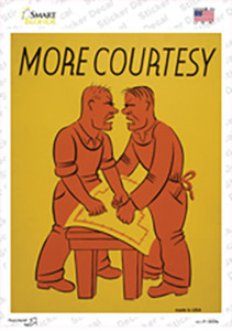 More Courtesy Vintage Poster Wholesale Novelty Rectangle Sticker Decal