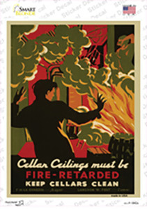 Keep Cellars Clean Vintage Poster Wholesale Novelty Rectangle Sticker Decal