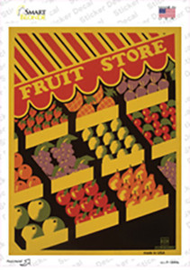 Fruit Store Vintage Poster Wholesale Novelty Rectangle Sticker Decal