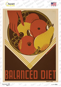Balanced Diet Vintage Poster Wholesale Novelty Rectangle Sticker Decal