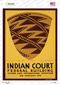 Indian Court Vintage Poster Wholesale Novelty Rectangle Sticker Decal