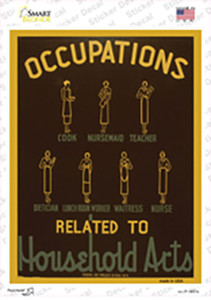 Occupations Vintage Poster Wholesale Novelty Rectangle Sticker Decal