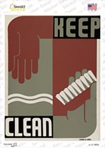 Keep Clean Vintage Poster Wholesale Novelty Rectangle Sticker Decal