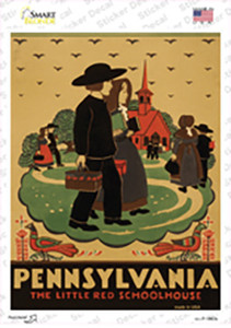 PA Little Red Schoolhouse Vintage Poster Wholesale Novelty Rectangle Sticker Decal