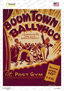BoomTown Ballyhoo Vintage Poster Wholesale Novelty Rectangle Sticker Decal