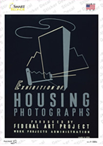 Housing Photographs Vintage Poster Wholesale Novelty Rectangle Sticker Decal