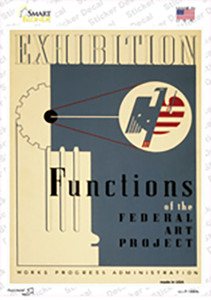 Federal Art Project Vintage Poster Wholesale Novelty Rectangle Sticker Decal