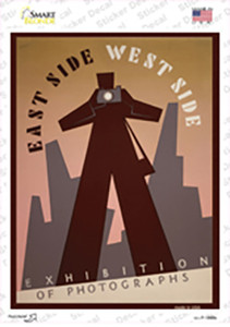 East and West Side Vintage Poster Wholesale Novelty Rectangle Sticker Decal