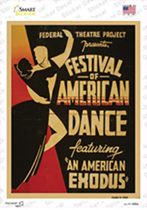 Festival of America Vintage Poster Wholesale Novelty Rectangle Sticker Decal