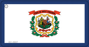 West Virginia State Flag Wholesale Novelty Key Chain KC-3607