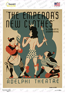 Emperors New Clothes Vintage Poster Wholesale Novelty Rectangle Sticker Decal