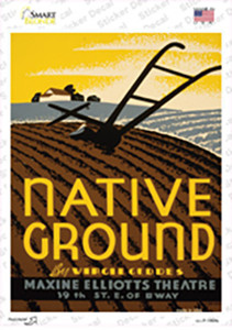 Native Ground Vintage Poster Wholesale Novelty Rectangle Sticker Decal