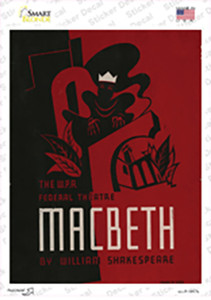 Macbeth by Shakespeare Vintage Poster Wholesale Novelty Rectangle Sticker Decal