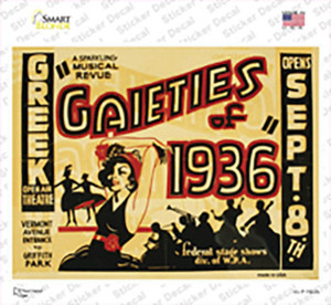 Gaieties of 1936 Vintage Poster Wholesale Novelty Rectangle Sticker Decal