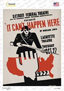 It Cant Happen Here Vintage Poster Wholesale Novelty Rectangle Sticker Decal