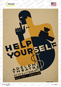 Adelphi Theatre Vintage Poster Wholesale Novelty Rectangle Sticker Decal