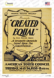 Created Equal Vintage Poster Wholesale Novelty Rectangle Sticker Decal
