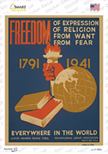 Freedom Everywhere Vintage Poster Wholesale Novelty Rectangle Sticker Decal