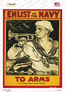 Enlist in the Navy Vintage Poster Wholesale Novelty Rectangle Sticker Decal