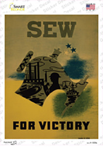 Sew for Victory Vintage Poster Wholesale Novelty Rectangle Sticker Decal