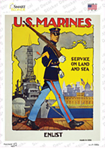 US Marines Vintage Poster Wholesale Novelty Rectangle Sticker Decal