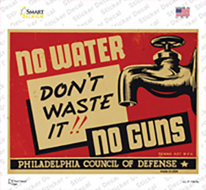 Dont Waste It Vintage Poster Wholesale Novelty Rectangle Sticker Decal