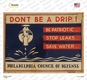 Dont Be a Drip Vintage Poster Wholesale Novelty Rectangle Sticker Decal