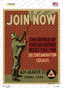 Decontamination Squads Vintage Poster Wholesale Novelty Rectangle Sticker Decal