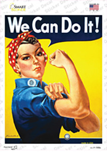 We Can Do It Vintage Poster Wholesale Novelty Rectangle Sticker Decal