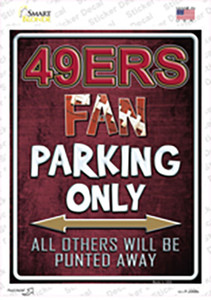 49ers Wholesale Novelty Rectangle Sticker Decal