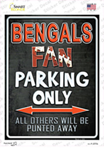 Bengals Wholesale Novelty Rectangle Sticker Decal