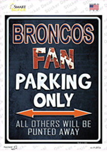 Broncos Wholesale Novelty Rectangle Sticker Decal
