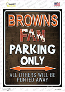 Browns Wholesale Novelty Rectangle Sticker Decal
