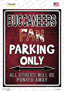 Buccaneers Wholesale Novelty Rectangle Sticker Decal