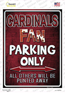Cardinals Wholesale Novelty Rectangle Sticker Decal