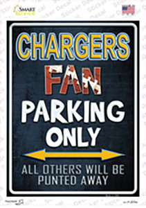 Chargers Wholesale Novelty Rectangle Sticker Decal