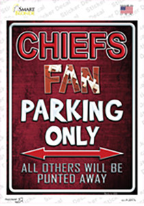 Chiefs Wholesale Novelty Rectangle Sticker Decal