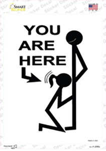 You Are Here Wholesale Novelty Rectangle Sticker Decal