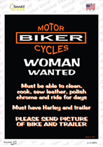 Woman Wanted Wholesale Novelty Rectangle Sticker Decal