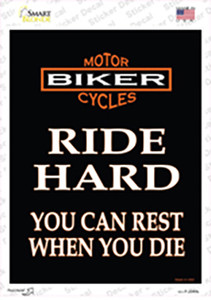 Ride Hard Wholesale Novelty Rectangle Sticker Decal