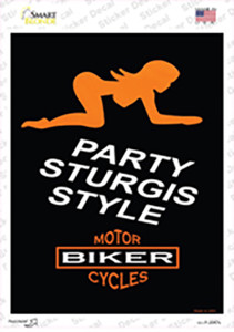 Party Sturgis Style Wholesale Novelty Rectangle Sticker Decal