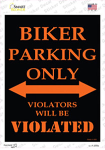 Biker Only Wholesale Novelty Rectangle Sticker Decal