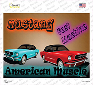 American Muscle Mustang Wholesale Novelty Rectangle Sticker Decal